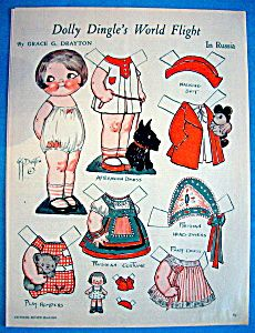 date in time this march 1933 vintage dolly dingle paper doll