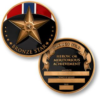United States Military Bronze Star Medal Coin Award New