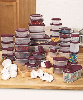 PC Set Plastic Food Storage Snap Kitchen Containers W/ Measuring Cups