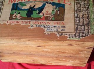 Vintage LG Wood Tea Box Souix Falls Brookings Huron SD