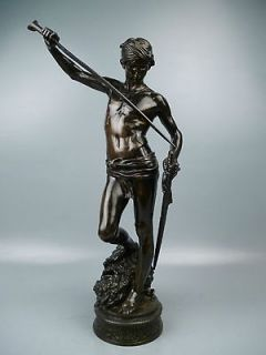 Sculpture DAVID & GOLIATH by Antonin Mercie   Barbedienne Foundry