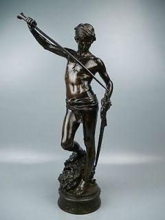 Sculpture DAVID & GOLIATH by Antonin Mercie   Barbedienne Foundry