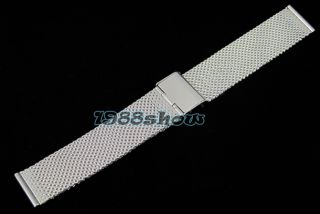 20mm 22mm 24mm Stainless Steel Mesh Band Watch Bracelets Strap