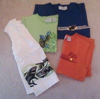 Boys Set of 4 Tank Top Shirts Sonoma Size 7X Shark Beach Tiki