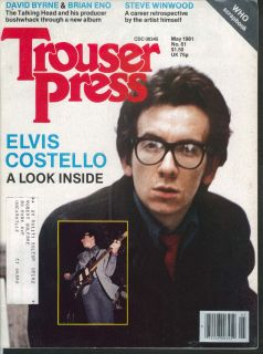 PRESS #61 Elvis Costello David Byrne Brian Eno Steve Winwood + 5 1981