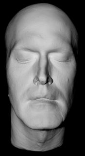 Bruce Campbell Life Mask from Evil Dead Life Cast in Light Weight
