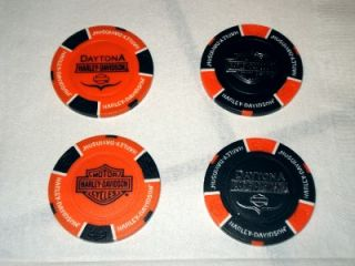 Harley Davidson Poker Chip New Design Bruce Rossmeyer Daytona FL Black
