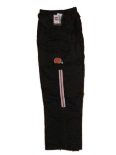 New NFL Mens Cleveland Browns Wind Nylon Pants Medium 2XL Brown