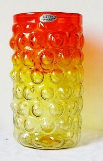 Blenko #6041 Wayne Husted vinyard series bubblewrap hand blown glass