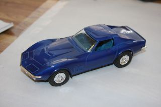 Put Together Kit Promo Model Chevy Corvette Painted Bridgehampton Blue