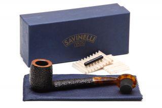 Savinelli Tortuga Rustic Briar 812 Tobacco Pipe