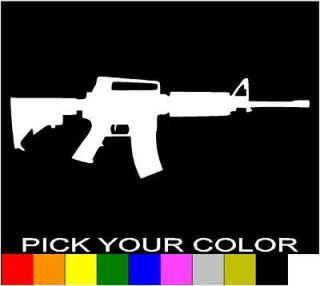 AR 15 RIFLE DECAL STICKER VINYL CAR LAPTOP CELL WINDOW GUN M16 .223