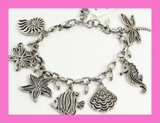 Brighton FIJI Charm Silver Bracelet   NWT & Pouch