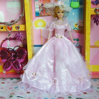 New Princess Wedding Clothes Party Dress Gown for Barbie Doll 013YA