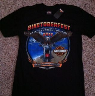 Harley Davidson Shirt Mens Medium Daytona FL Bruce Rossmeyers