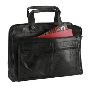 italian mosaictm design genuine leather briefcase