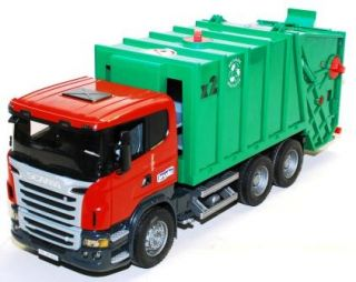 Bruder Toys Mack Granite Garbage Truck Ruby Red Green Realistic