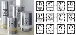 Pantry Food Labels Vinyl Wall Lettering Word Sticky Art