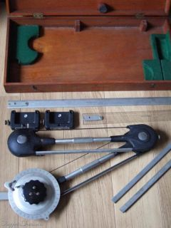 vintage bruning wallace oak cased drafting machine description for