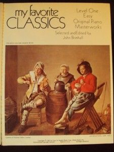 Songs My Favorite Classics Piano Sheet Book Music Brimhall 1969