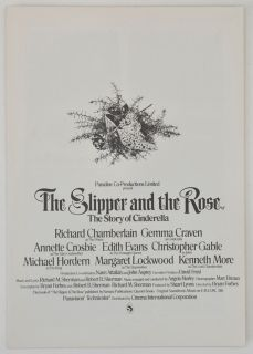 The Slipper and The Rose 1976 Cinema Exhibitors Campaign Press Book