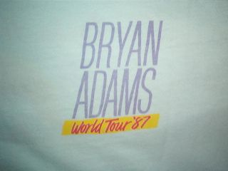 Vintage Bryan Adams T Shirt Rock Concert Tour 80s 2