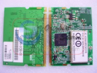 Broadcom BCM4318 BCM94318MPG Mini PCI WLAN WiFi Wireless Card 802 11 B