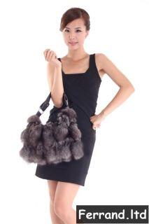 Genuine Fox Fur Bag Fashion Womens Shoulder Bag/Handbag/Tote BF07