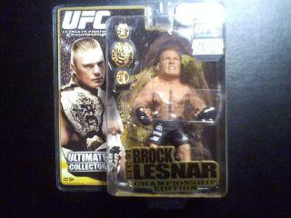 Brock Lesnar UFC Round 5 Variant Belt Figure UFC91 CHAMPIONSHIP