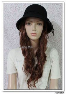 Bowknot High Quality Warm Wool Vintage Fedora Bucket Hat Cap