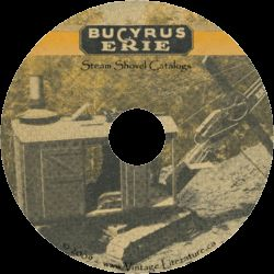 Bucyrus Erie Shovel Crane 3 Catalogs on CD ღ♥¸¸ • ´¯`♥ღ