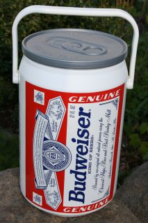 Vintage Budweiser Large Beer Can Cooler Ice Chest Bucket