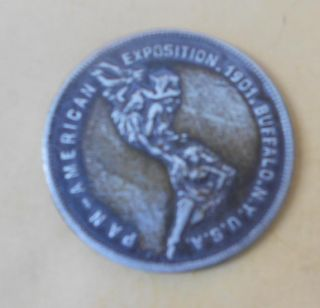 1901 Pan American Exposition Buffalo NY Coin Medallion