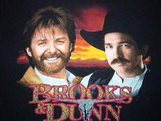 Vintage Brooks and Dunn Concert Shirt Country Sundown M