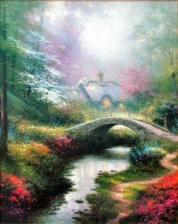 Brookside Hideaway 20x16 s N Framed Limited Thomas Kinkade Canvas Art