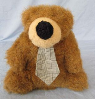 Stuffed Plush Teddy Bear Basic Brown Factory Neck Tie Merrilee Woods