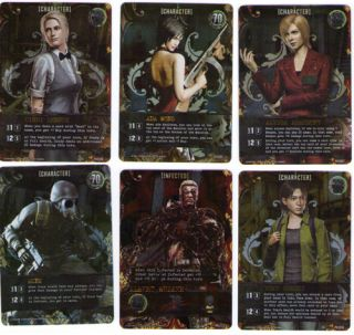 Resident Evil Deck Building Game 6 Exclusive Promo Cards