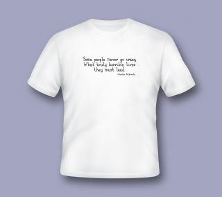 Go Crazy Quote T Shirt Bukowski Charles Kerouac Burroughs Beat
