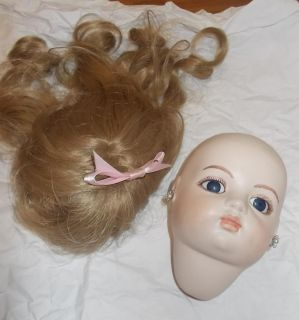 Antique Bru Doll Reproduction Head and Wig