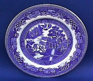 WEDGWOOD China Chinese Blue WILLOW Dish Antique Early 20th C Pattern