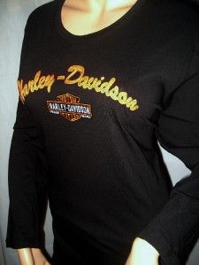 Harley Davidson Black Enbroidered Long Sleeve Shirt Daytona Beach 3X