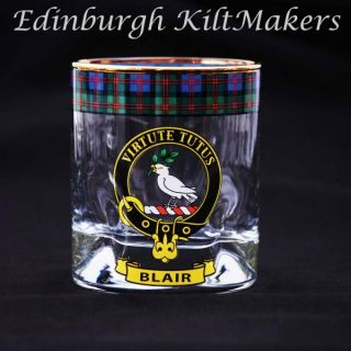 Ross Clan Crested Whisky Glass Tartan Whisky Glasses