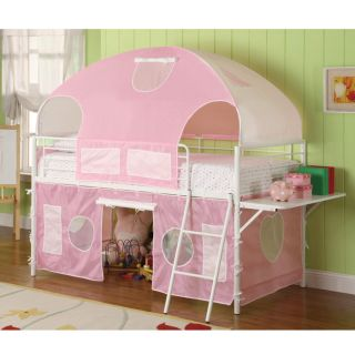 tent bunk bed from brookstone girls tent bunk bed by coaster sleep