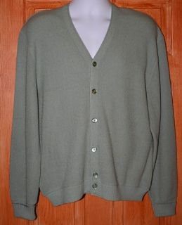 VTG MENS GRAY ARNOLD PALMER by ROBERT BRUCE CARDIGAN BUTTON DOWN