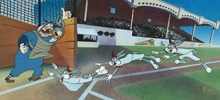Bugs Bunny Yer Out Virgil Ross New Signed Hand Painted Cel Le 750