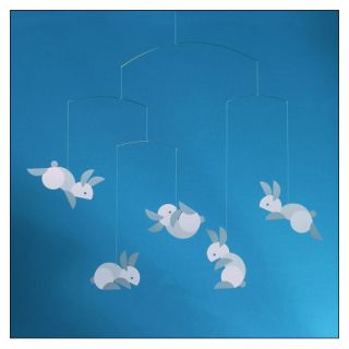Hop Along Bunny Mobile by Louise Helmersen for Flensted Mobiles