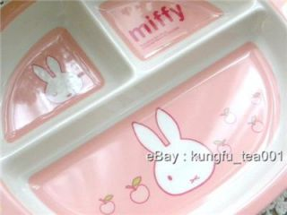 Miffy Rabbit Child Baby Toddler Divided Dish Plate P
