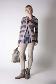 BRUNELLO CUCINELLI UNISEX STRIPED BOYFRIEND CASHMERE CARDIGAN SWEATER