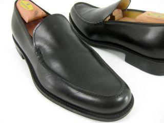 PLATINUM Bruno Magli Mens Black Leather Dress Loafers UK 7 5 US 8 5 M