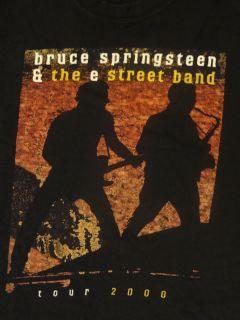 BRUCE SPRINGSTEEN & THE E STREET BAND TOUR 2000 T shirt Mens XL. Good